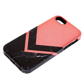 Black Marble Geometric Protective Phone Case - Fits iPhone 6/7/8 Plus,