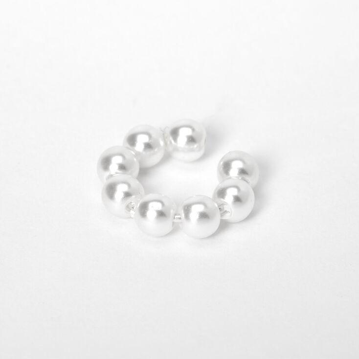 Classic Pearl Ear Cuff - Ivory,