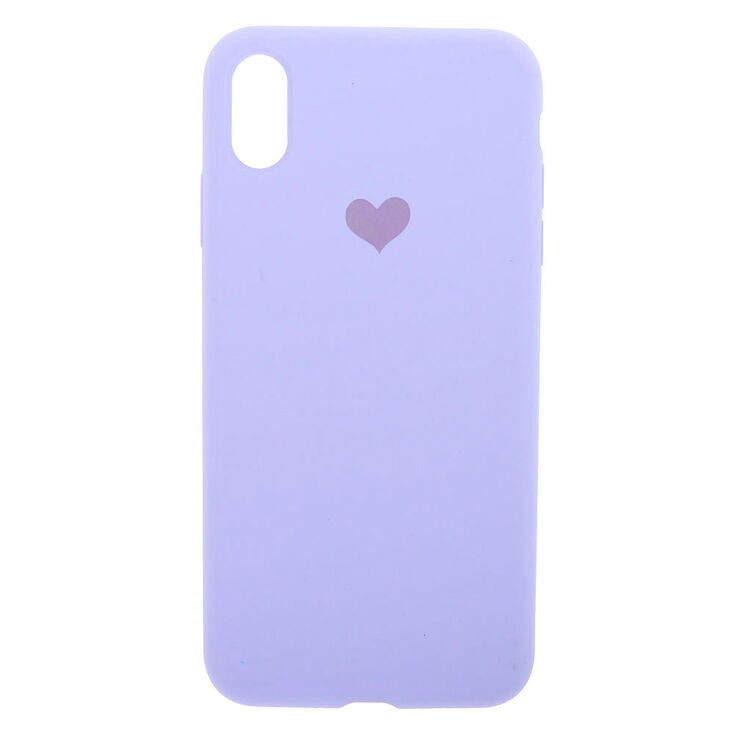 Lavender Heart Phone Case - Fits iPhone XS Max,
