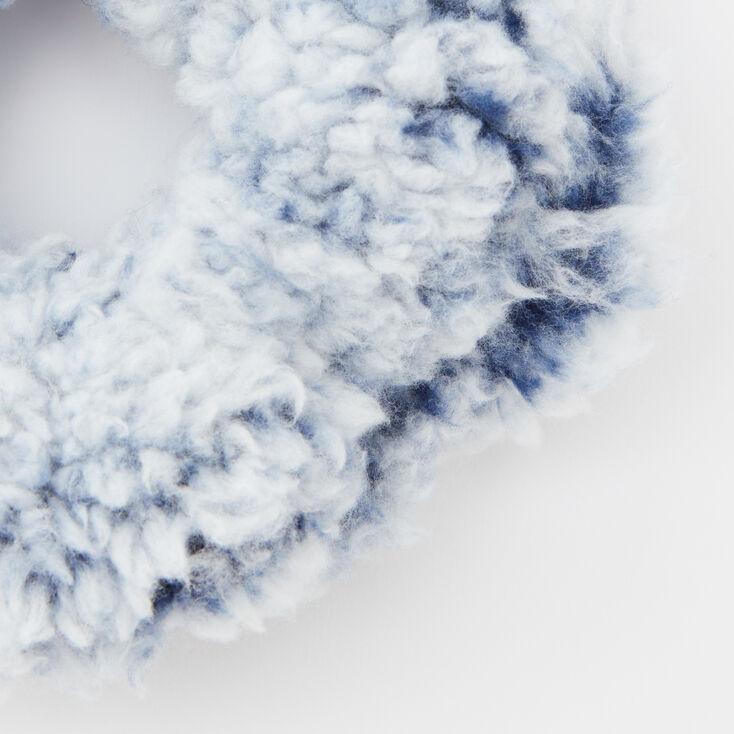 Medium Teddy Hair Scrunchie - Blue,