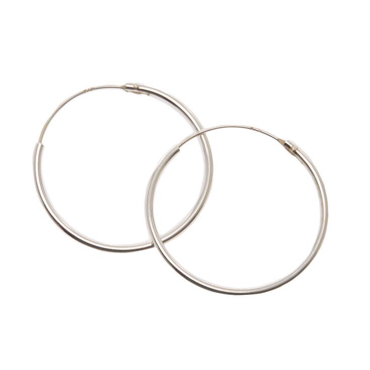 925mm Sterling Silver Endless Loop Earrings,