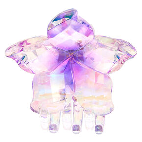 Iridescent Flower Hair Claw - Purple,