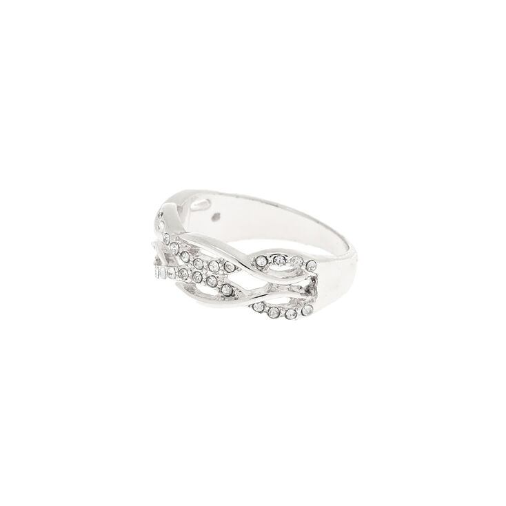 Silver Double Woven Ring,