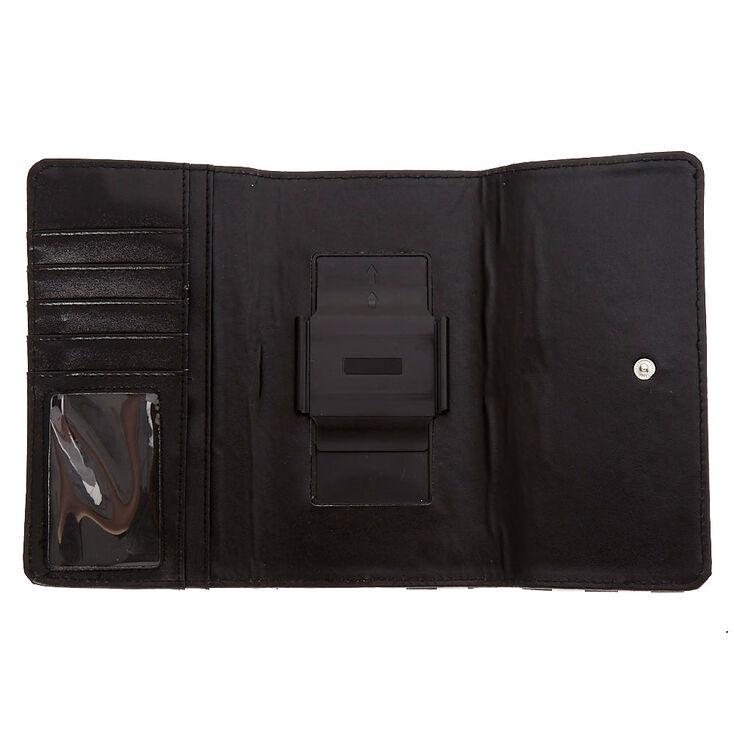 Black & White Striped Phone Wallet,