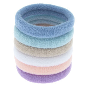 Pale Pastel Rolled Hair Ties - 6 Pack,