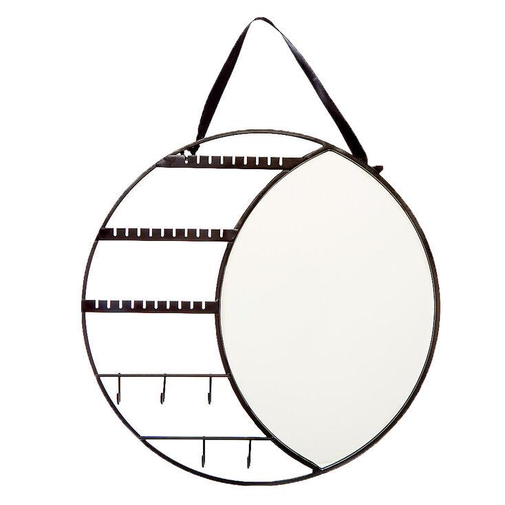 Lunar Eclipse Hanging Jewelry Holder Mirror - Black,