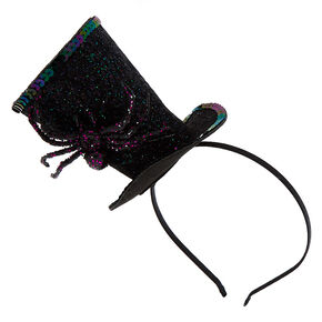 Spooky Spider Top Hat Headband - Black,