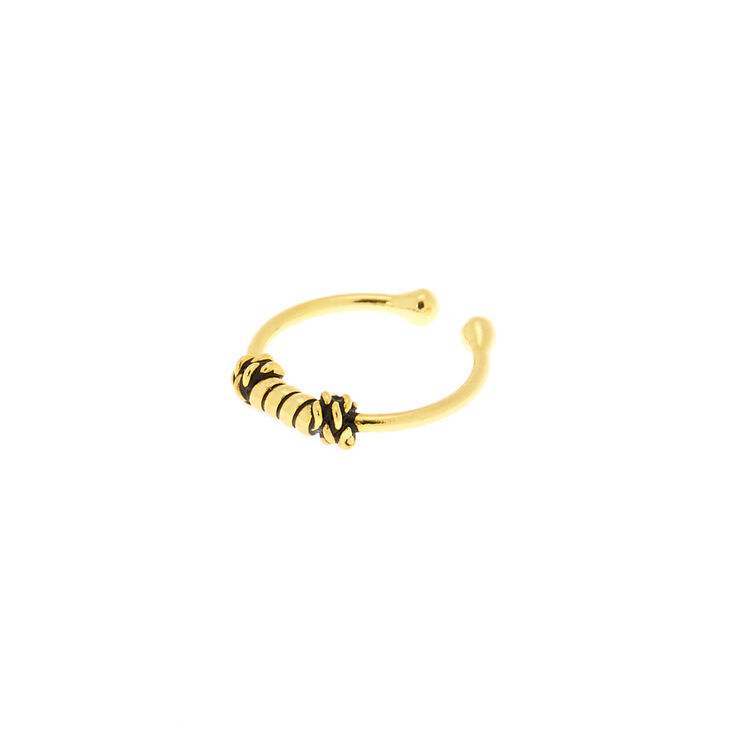 Gold Sterling Silver Antique Faux Nose Ring,