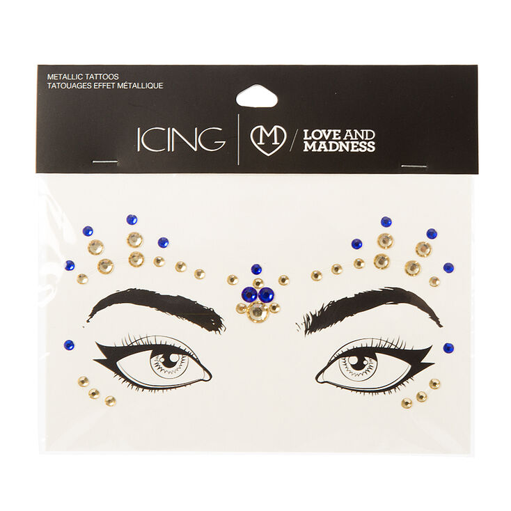 The Love & Madness Blue & Gold Bindi Eye Crystals,
