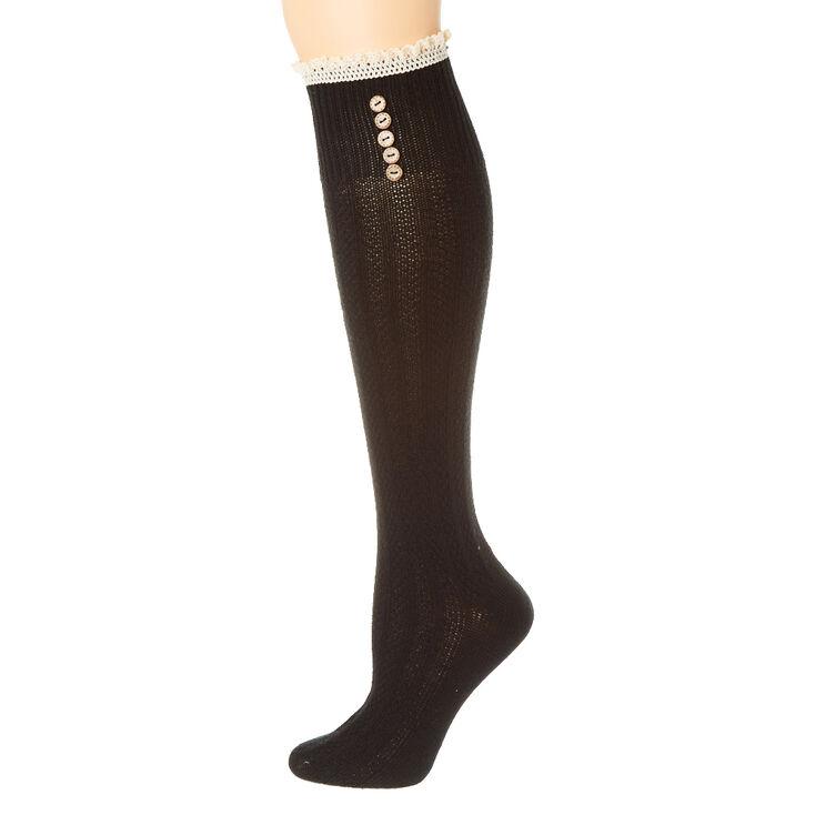 Black Over The Knee Socks,