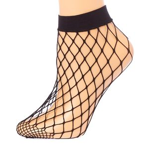 Black Fishnet Ankle Socks,