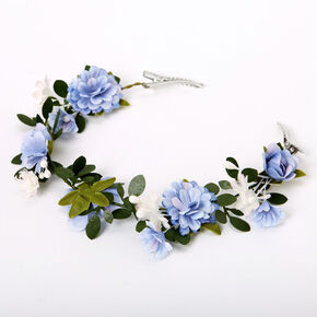 Flower Hair Swag - Dusty Blue,