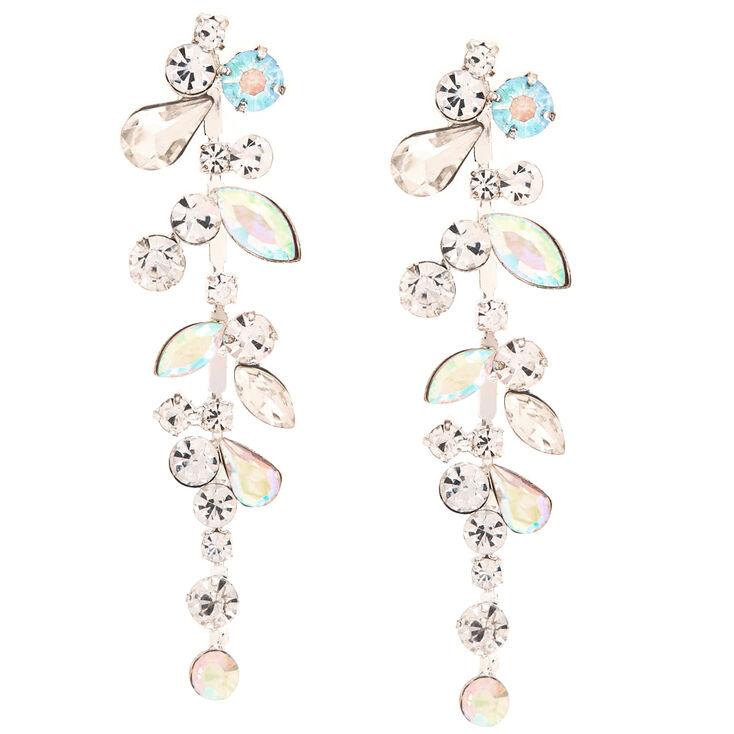 Crystal & Stone Bundle Drop Earrings,