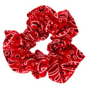 Bandana Hair Scrunchie - Red,