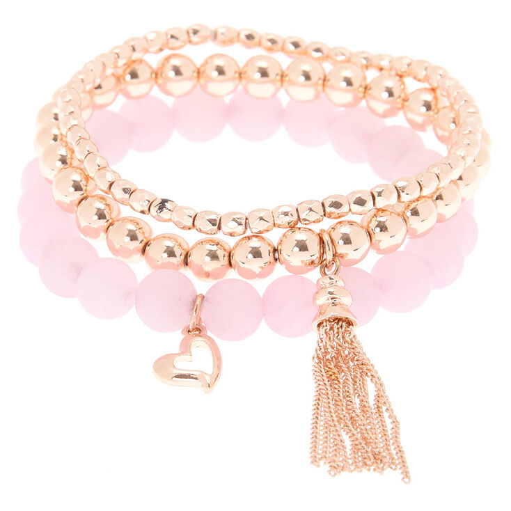 Compassion Fortune Stretch Bracelets - Pink, 3 Pack,