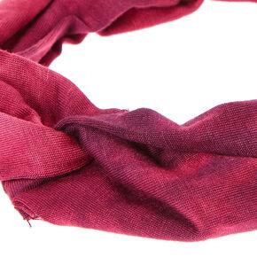 Tie Dye Maroon Knotted Headwrap,