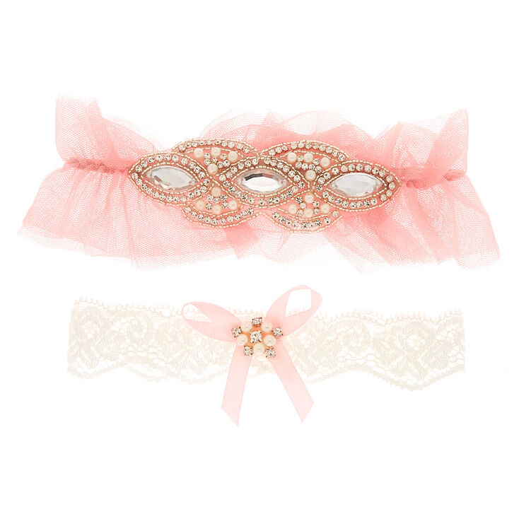 Pretty in Pink Garter Set - 2 Pack,