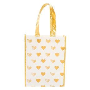 Golden Hearts Reusable Tote Bag,
