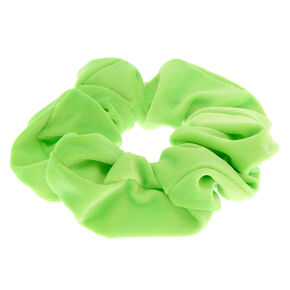 Velvet Hair Scrunchie - Neon Green,