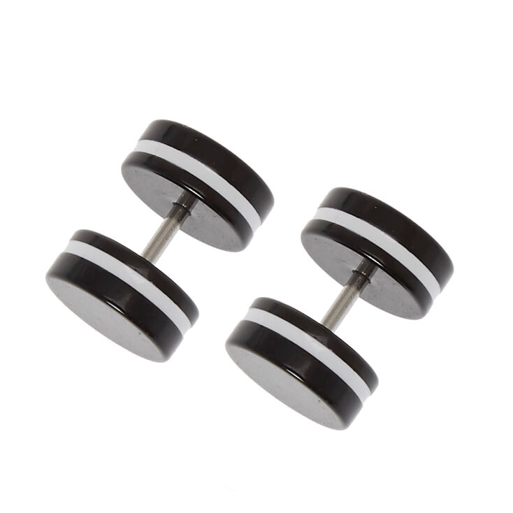 Faux Oreo Plug Earrings,