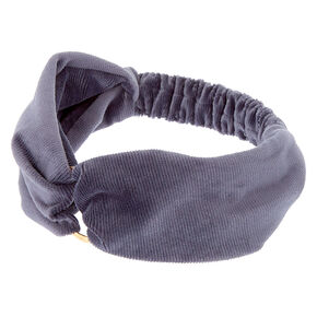 Velvet Ring Headwrap - Slate Gray,