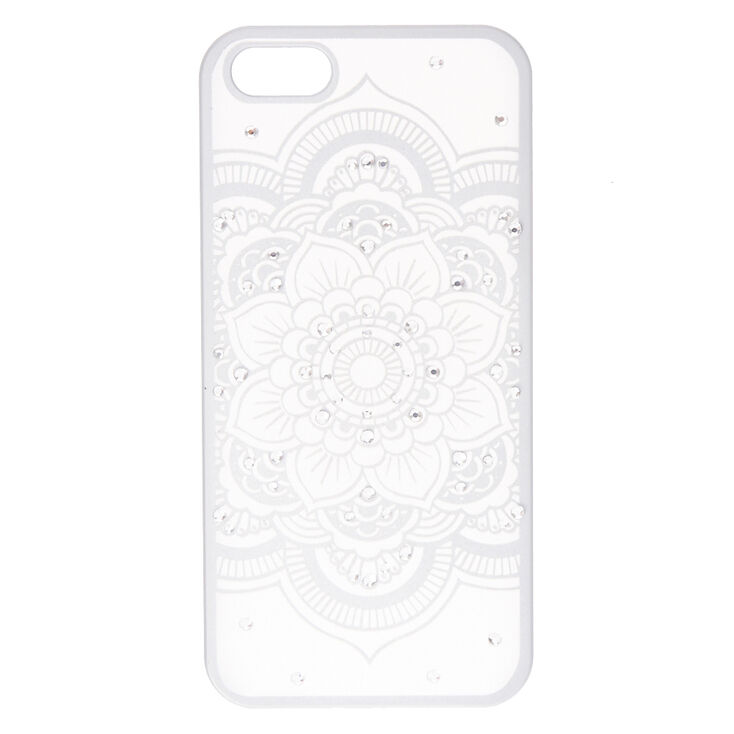 Silver Flower Mandala Phone Case - Fits iPhone 6/7/8,