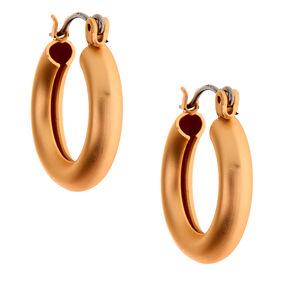 Gold 20MM Matte Hoop Earrings,
