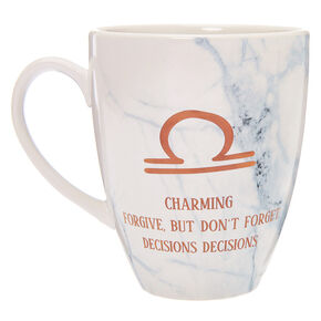 Ceramic Marble Zodiac Mug - Libra,