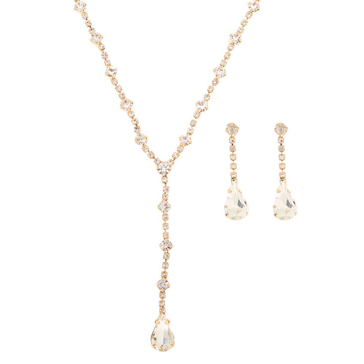 Gold Teardrop Jewelry Set - 2 Pack,