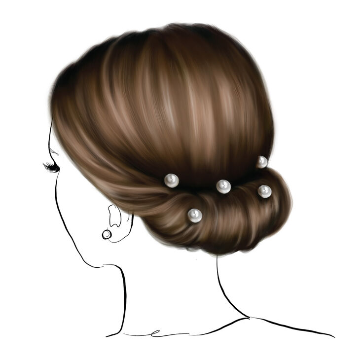 Chignon Pearl Updo Hair Tools Kit,