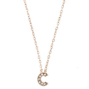 "Rose Gold-Tone ""C"" Initial Pendant Necklace,"