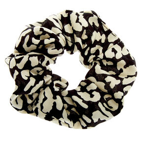 Black & White Leopard Hair Scrunchie,
