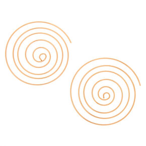 Gold 60MM Spiral Hoop Earrings,