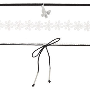 Spring Choker Necklaces - 4 Pack,