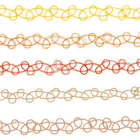 Wild West Tattoo Choker Necklaces - 5 Pack,