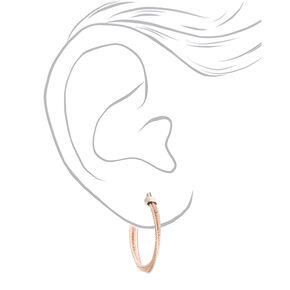 Mixed Metal 30MM Twisted Hoop Earrings,