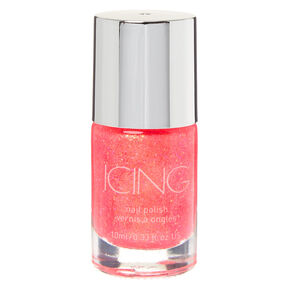 Glitter Nail Polish - Neon Coral,