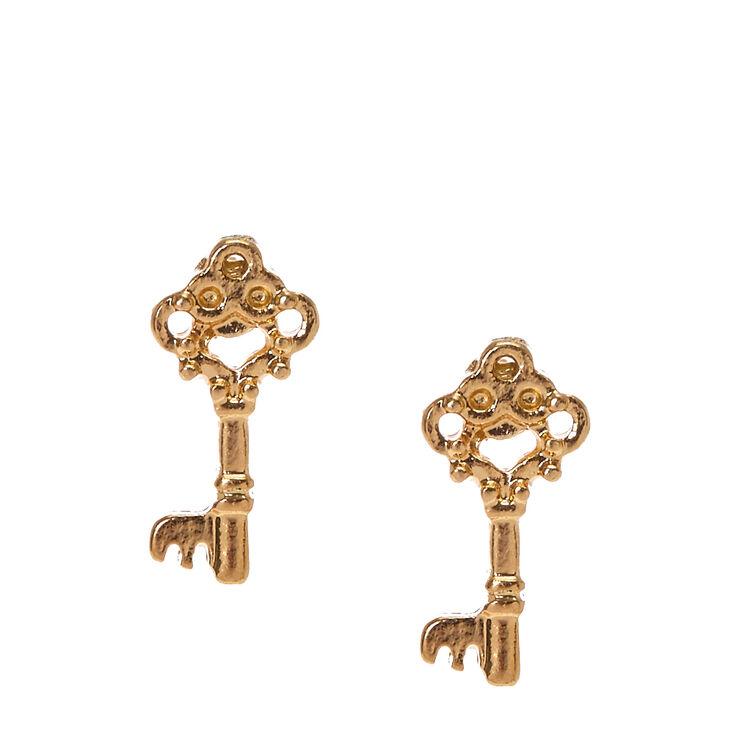 Gold Key Studs,