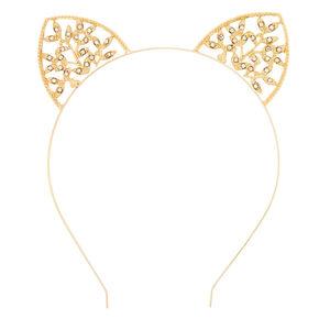 Gold Ivy Cat Ears Headband,