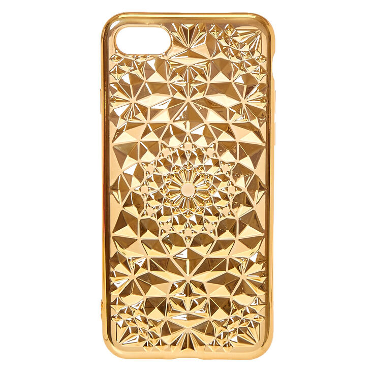 Gold Case Geometric Phone Case,