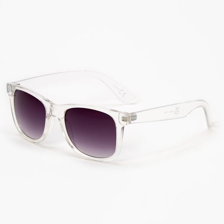 Retro Sunglasses - Clear,