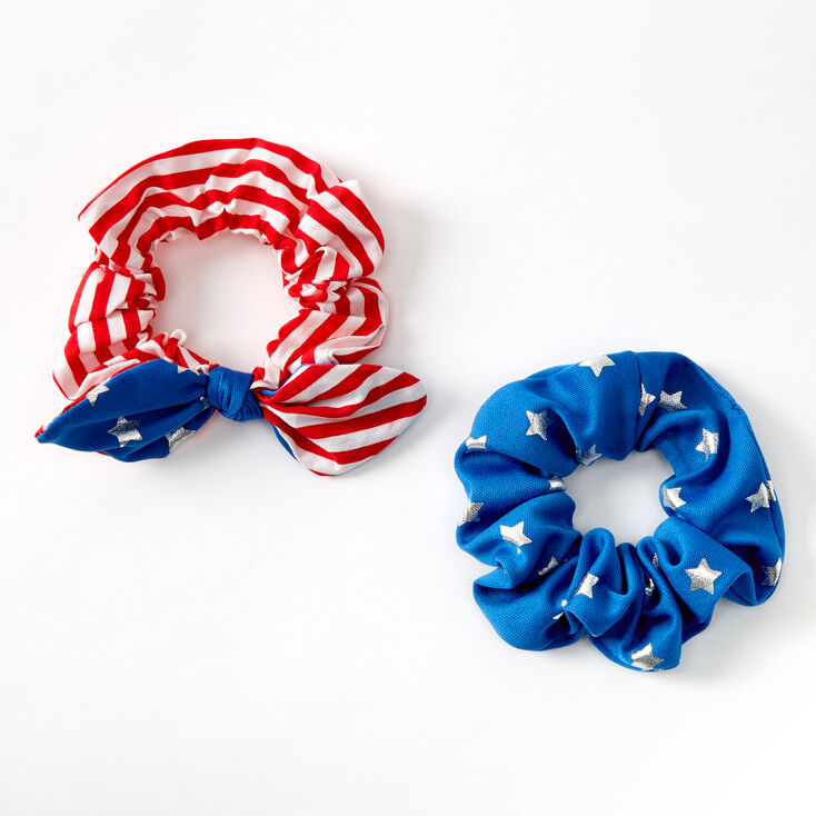 Small USA Hair Scrunchies - 2 Pack,