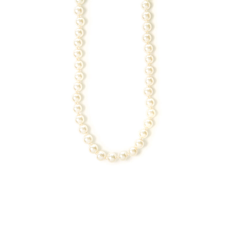 "Classic 8MM 20"" Pearl Strand Necklace,"