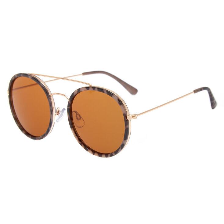 Round Tortoise Shell Sunglasses,