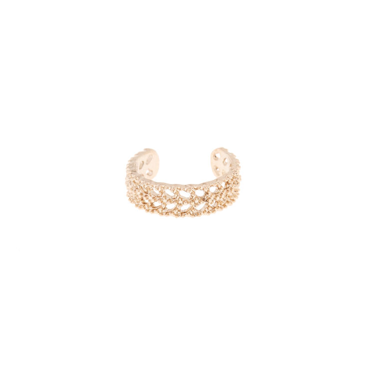 Rose Gold Fan Band Toe Ring,