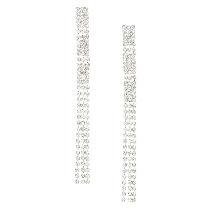 XL Crystal Fringe Earrings,