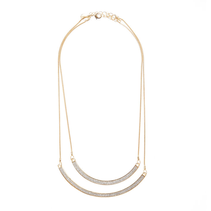 Gold & Silver Double Row Necklace,