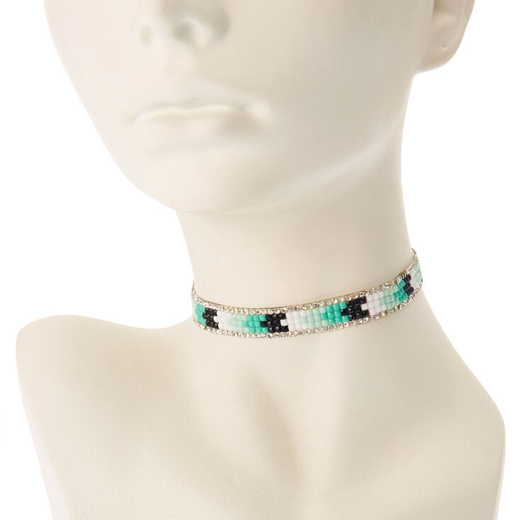 Aztec Choker Necklace - Turquoise,