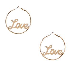 Love Gold Hoop Earrings,
