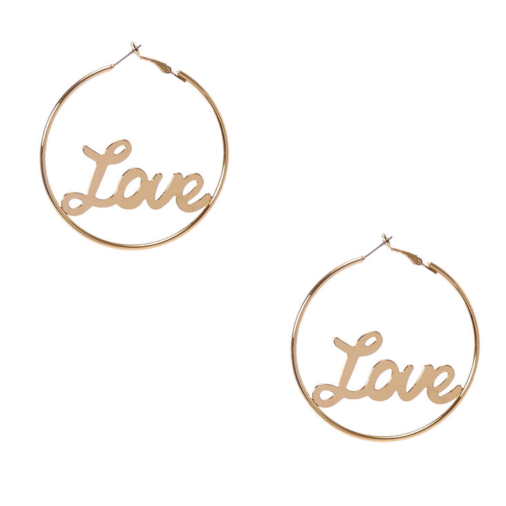 Love Gold Hoop Earrings